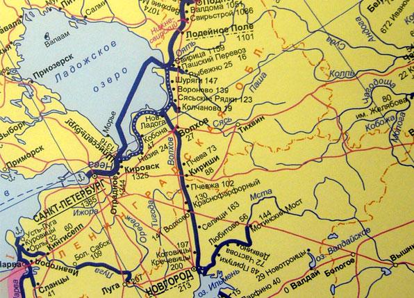 Карта внутренние водные пути